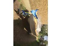 Barn find speed boat 90hp evinrude winner cobra