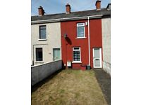 Bright, cosy 2 bed house. Enclosed front garden Good back yard good for BBQ. Gas central heating.