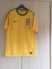 Nike Yellow Brasil T Shirt (Football Shirt)