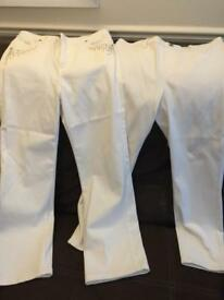 Ladies Uniqlo and Per Una white jeans