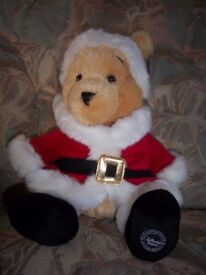 Father Christmas Winnie the Pooh Plush from Disney Store IP1