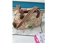 Pink lining changing bag in good condition