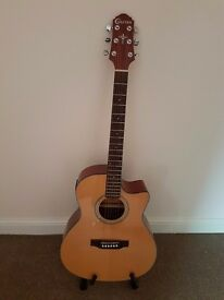 Crafter full size electro accoustic guitar.