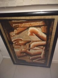 2 framed Egyptian pictures