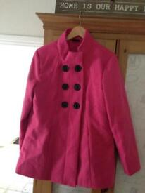 Pink coat size 16 brand new!!