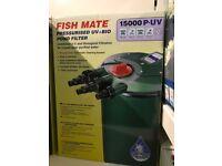 Fish Mate 15000 P-UV Pressurised Pond Pump BNIB (2 available)