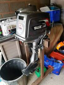8hp Suzuki outboard boat moter tender engine