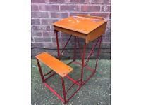 Vintage Folding Children's School Desk