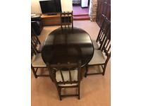 Ercol Dining Drop Leaf Table + 6 Chairs