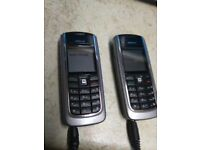 2 Nokia 6120 older type phones unlocked with chargers,ring O7754548727