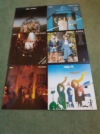 6 ABBA lp's good cond orginal releases