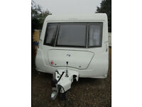 2008 Elddis Crusader Super Sirocco 4 Berth Touring Caravan With Fixed Bed & Rear Washroom, Twin Axle