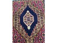PERSIAN design CARPET RUG Hand Made Woven Oriental Wool 100x75cm