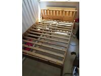 Double Bed Frame (Pine Wood 6ft3 x 4ft6 size)