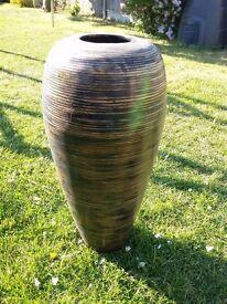 Large wooden vase