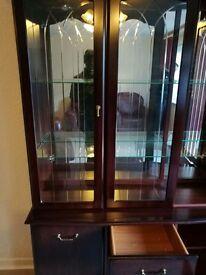 Glass front display cabinet. Living / Dining room
