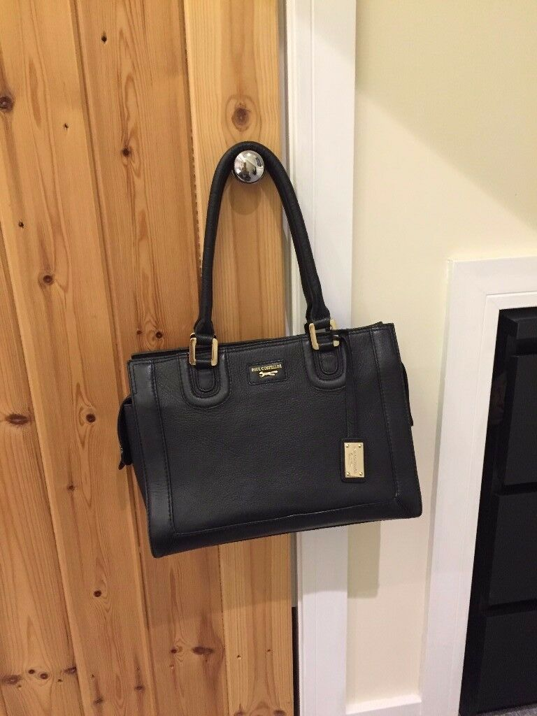 Designer handbag Paul Costelloe Leather original almost new 30cm wide 25 cm high 12cm deep