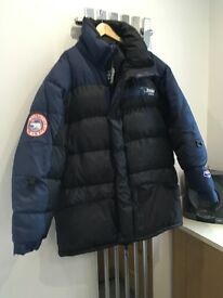 Men's XL Bear Expedition coat with goose feathers