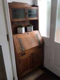 Antiques Arts&Crafts Cabinet 74cmx173cm in genuine English oak