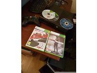 Xbox 360. 1 controller. 4 games.
