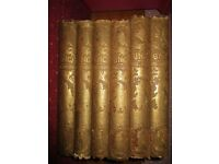 6 bound volumes of Punch Magazine