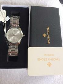 Timothy stone watch with Swarovski crystals - unisex