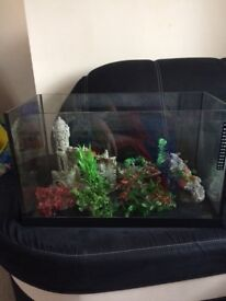Fishtank with some accessories (no filter). All you can see in picture.