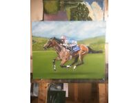 Frankel oil painting horse racing art