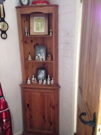 1 x Pine Dresser, 2 x Pine Corner Units, 1 x wicker book case