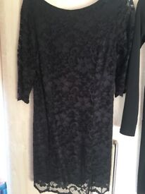 Black lace dress size 14
