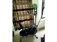 2 in 1 Elliptical Cross Trainer and Exercise Bike With Seat Cardio (With Middle Bar)