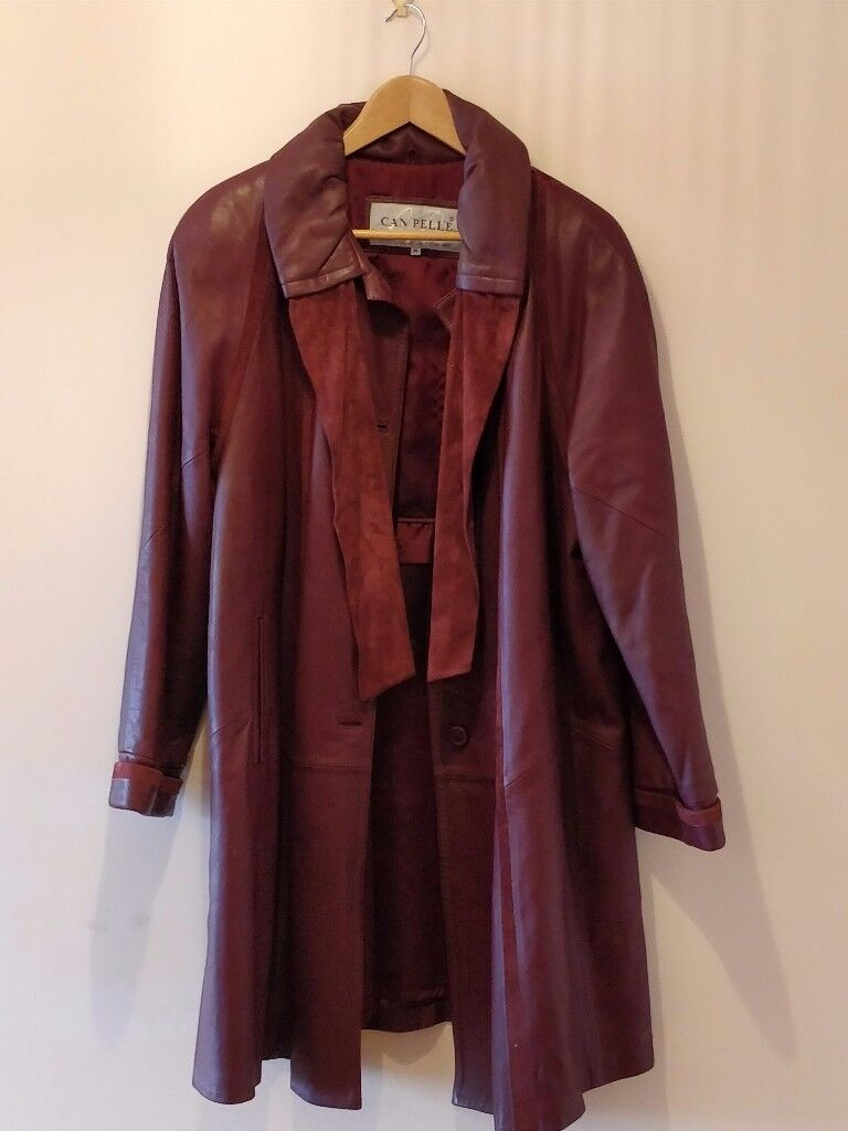 Genuine Leather 80's Red Women's Can Pelle Leather Jacket (M or 12/14)
