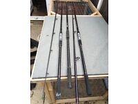 Carp rods and landing net handle