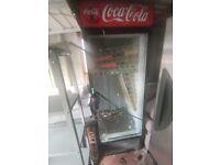 Commercial drinks fridge, broken glass door