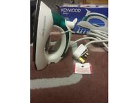 kenwood travel iron all boxed with label 8 pound offer acepted