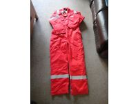 New thermal overall/boiler suit flame retardent size 50 inch Red Roots
