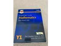Exam Board AQA A Level Year 1 (AS) & Year 2 Mathematics text books & free online edition VGC