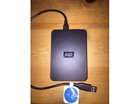 WD Western Digital external usb 640GB passport hard drive