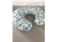 Chicco boppy pillow with woodsie cover