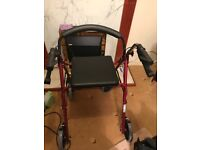 Brand new mobility walker with seat