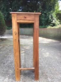 Indian Oak stand with top draw