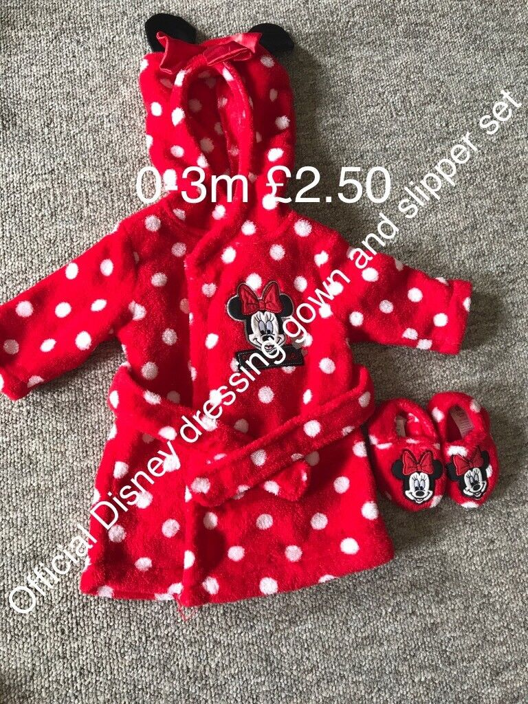 Disney Minnie Mouse dressing gown and slipper set 0-3m | in Whiteley ...