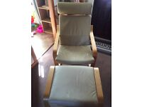 Ikea Poäng Chair and Footstool