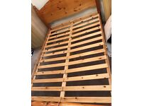 Wooden Double Bed Frame. In excellent condition.