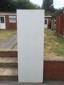 UPVC FRONT DOOR RECTANGULAR FULL PANEL MOULDED REINFORCED INFILL PVC WHITE DOOR CARD PLAIN