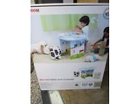 childrens table and 2 stool new in box