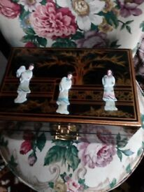 Laquard mother of pearl jewelry box forsale