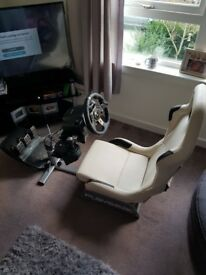 Logitech Xbox one steering wheel and seat
