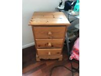 Used Pine bedside table