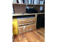 Large Wooden A1 Plan Chest - Needs some repairs